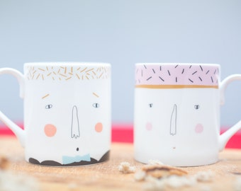 His & Hers Couples Mug Set
