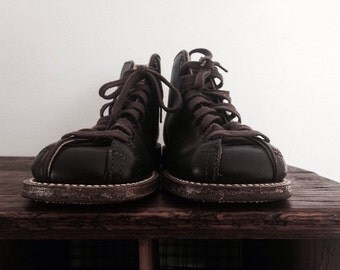 Vintage Brown Child's Shoe Boot Buster Brown's Leather Kid's Footwear Harley Dr.Martens