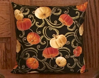 Fall Pillow Cover - Pumpkin pillow - Fall Decor - Fall Decorations - Autumn pillow - Autumn Decor - 16x16 - 18x18 - 20x20 - seasonal pillow