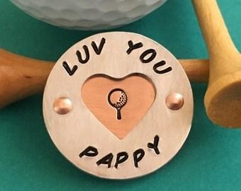 ball marker, golf ball marker, golf gift, grandpa gift, custom ball marker, grandpa golfer, unique ball marker, golfer gift,