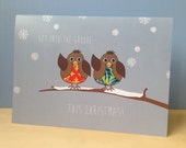 Christmas Robin Card | Groovy Robin Xmas Card | Funny Christmas card