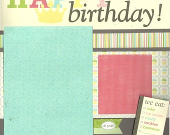 Happy Birthday! - 2 page Scrapbooking Layout Kit