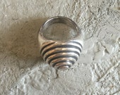 Sterling Silver Modernist Mid Century Ring