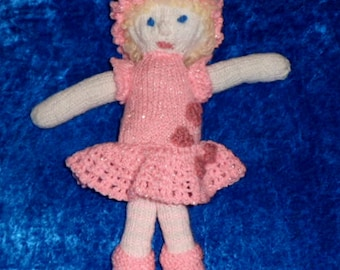 DOTTY DOLLIES. LILYMAY The Knitted Doll.