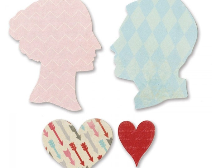 Sizzix Bigz Die - Love Silhouettes by Echo Park Paper Co.