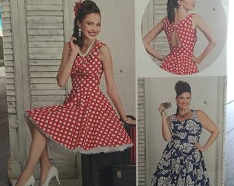 Simplicity 8051 Retro Dress pattern in  Size 20W-28W