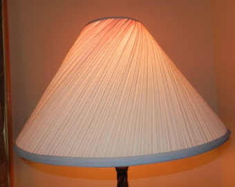 large vintage twisted pleat lamp shade shade only - Large Lamp Shades