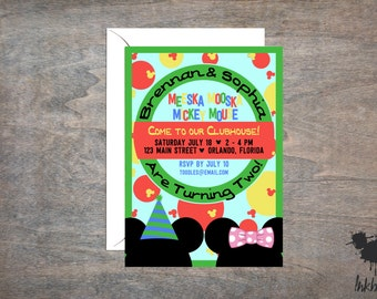 Mickey Mouse Clubhouse Invitation (25 Invitations)