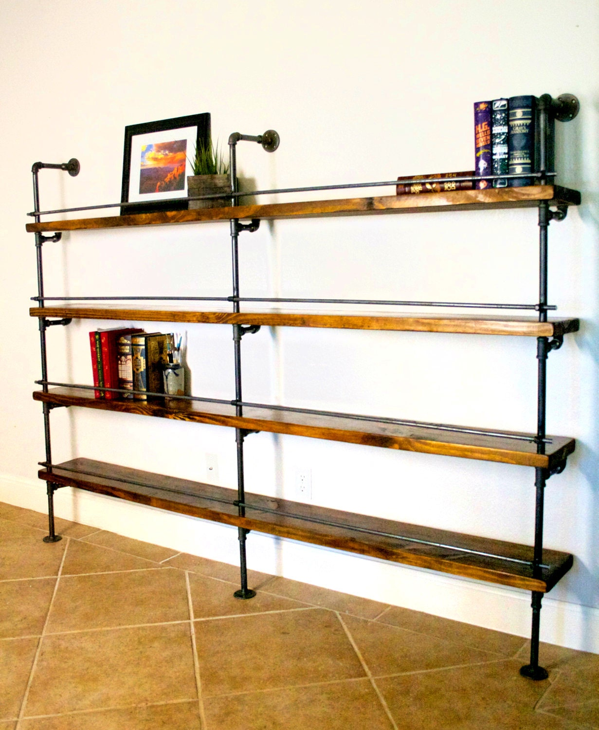 industrial shelving unit industrial bar industrial. Black Bedroom Furniture Sets. Home Design Ideas