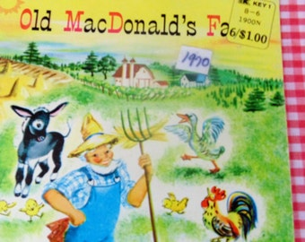Vintage Old MacDonald's Farm 1970 Children's Book