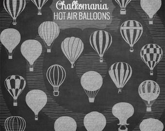 Chalk Hot Air Balloon