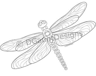 Dragonfly Coloring Page for Download