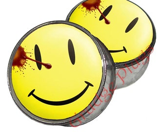 """Watchmen Comeidan Plugs - 1 Pair (2 plugs) - Sizes 8g to 2"""" - Made to Order"""