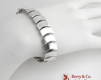Mexican Modernist Bracelet Sterling Silver