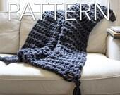 """Hand Crochet Blanket Pattern, Pdf Download, Beginners Pattern, Chunky Throw, Crochet pattern, Crochet blanket, Crochet throw, 53""""x46"""""""