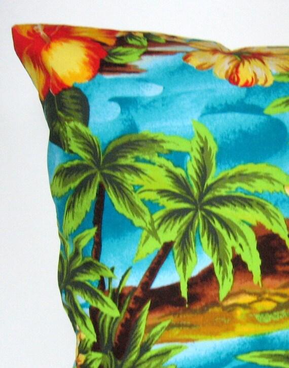 Tropical Throw Pillow Covers : Summer Pillow Covers Tropical Pillow Cover by APassion4Pillows