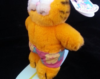 Dakin Garfield the Wave Rider on Surfboard Plush Surfer with Tag 1978-1981 VINTAGE