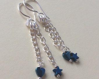 Haematite earrings