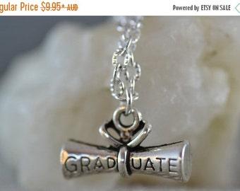 SALE Graduation Necklace, NG008, Graduation gift, graduate, school leaver, university, academic, silver necklace, charm necklace