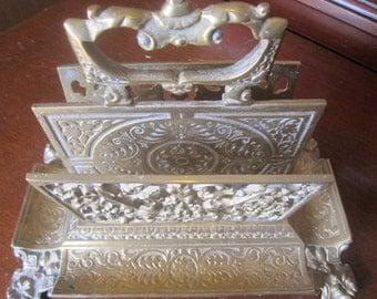 Solid Brass Letter Holder