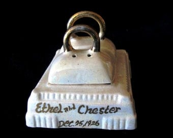 Art Deco Lusterware 1920s Wedding Salt and Pepper shakers
