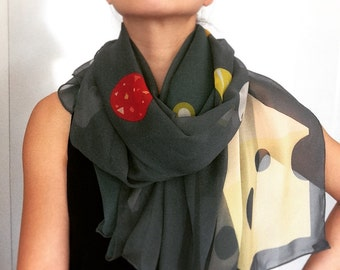 More Pizza Please | 100% Silk Scarf