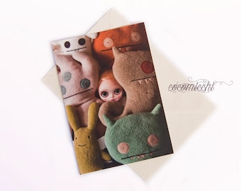 Monsters life  - Any occasion greeting card by cocomicchi - A5 size