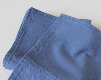 "hand dyed navy cloth napkins 15"" square eco friendly-set of 4 SAMPLE SALE"