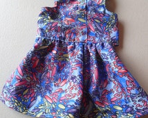 Harness dress (Purple mix) -   for small  dog/puppy