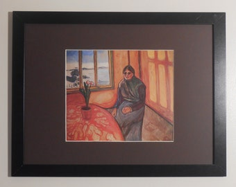 "Mounted and Framed - Laura by Edvard Munch  - 16"" x 12"""