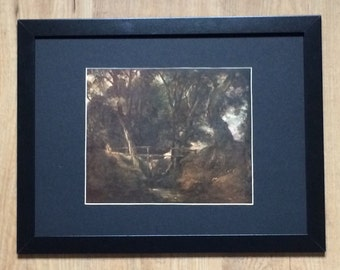 "Framed and Mounted Dell Scene in the Park at Helmingham Print by John Constable 16"" x 12"""