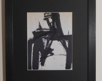 """Mounted and Framed - Untitled by Franz Kline - 14"""" x 11"""""""