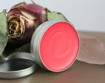 Pink lip tint, Mai Tai Punch, flavored lip tint, sheer lip tint, stocking stuffer, fruity lip balm, tinted lip balm, hot pink lip color