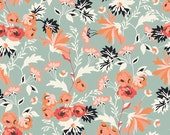 """Riley Blake Designs """"Apricot & Persimmon"""" by Carina Garder. 100% cotton, pattern C4900 Mint - Main by the yard"""