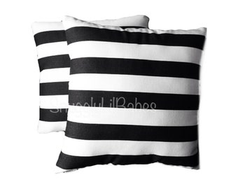 Black stripe pillow set, AVAIL in any pattern and colors