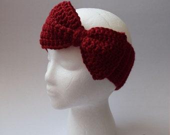Big Bow Ear Warmer (Crochet)