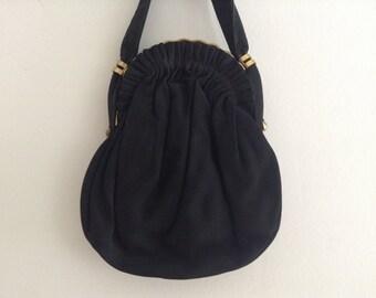 Vintage Black Evening Bag