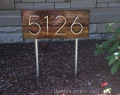 Mid Century Modern Address Sign (w/ stakes)