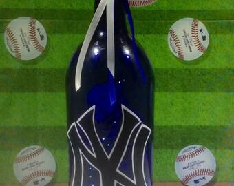 New York Yankees Lighted Wine Bottle 1.5 Liter