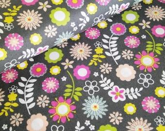 "0,5 m Printed fabric ""My Woodland Friends - Flowers"""