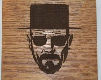 Wood Engraved Breaking Bad Coasters, Custom Coasters, Breaking Bad Fans, Wedding Gift, House Gift, Anniversary