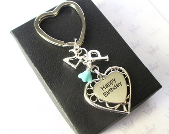 Personalised 21st Birthday keyring - Personalized 21st keychain - Happy Birthday gift - Sister - Friend - Uk