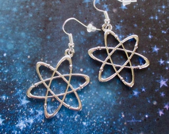 Atom earrings - Science jewellery - Space jewellery - Geek gift - Science gift - Nerdy gift - Gift for physicist - Geekchic - Etsy UK