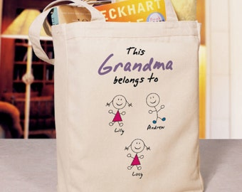 "Personalized ""Belongs To"" Tote Bag"