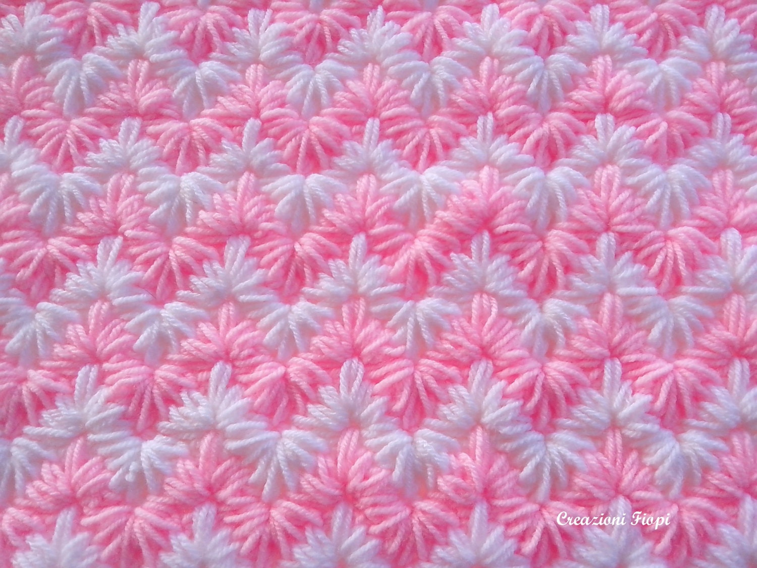 Blanket/crochet zig zag puff stitch/ Tutorial /crochet zigzag blanket ...