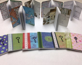 Mini Altered Composition Notebooks/Journals Set of 3