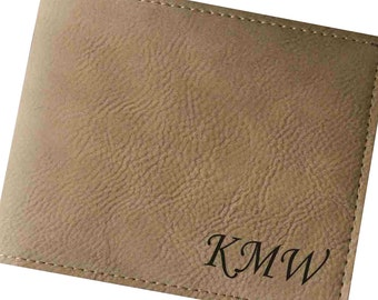 Personalized Wallet, Leather Wallet Mens, Engraved Leather Wallet, Mens Leather Wallet, Gifts for Groomsmen, Groomsman Gift, Bi Fold Wallet