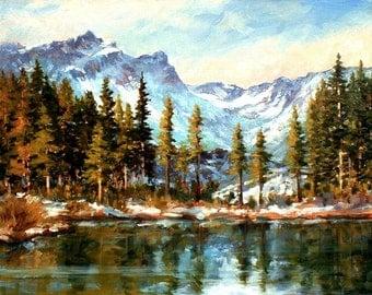 SARDINE LAKE, an original oil painting by DJ Lanzendorfer