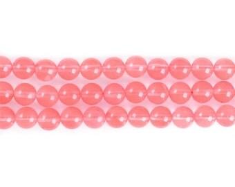 "8mm176 Cherry Quartz round ball loose gemstone beads 16"""