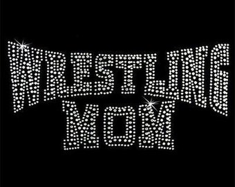 Rhinestone Transfers - Hot Fix Motif - Wrestling Mom 2